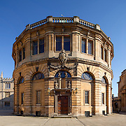 Sheldonian Theatre viewed from Broad Street, Oxford. Built 1664 to 1668. Architect: Christopher Wren