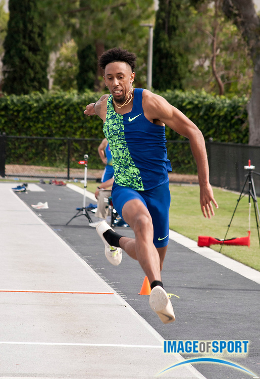 Chris Benard  places second in the triple jump at 54-10 (16.71m) during the Jim Bush Southern California USATF Championships, Saturday, June 29, 2019, in Long Beach,  Calif.  (Ken McLin/Image of Sport)