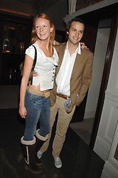 CHARLIE GILKES and OLIVIA INGE at a party to celebrate the launch of the Astley Clarke Fine Jewellery Collection held at The Connaught hotel, London W1 on 28th February 2008.<br />