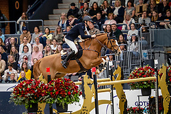 Devos Pieter, BEL, Apart<br /> Göteborg - Gothenburg Horse Show 2019 <br /> Longines FEI World Cup™ Final I<br /> Int. jumping competition - speed and handiness<br /> Longines FEI Jumping World Cup™ Final and FEI Dressage World Cup™ Final<br /> 04. April 2019<br /> © www.sportfotos-lafrentz.de/Dirk Caremans
