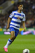 Reading's Nick Blackman looks to move the ball up field during the Capital One Cup match between Reading and Everton at the Madejski Stadium, Reading, England on 22 September 2015. Photo by Mark Davies.