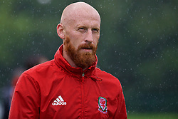 CARDIFF, WALES - Saturday, September 3, 2016: Wales' James Collins during a training session at the Vale Resort ahead of the 2018 FIFA World Cup Qualifying Group D match against Moldova. (Pic by David Rawcliffe/Propaganda)
