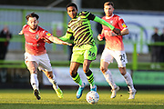 Forest Green Rovers Jevani Brown, on loan from Colchester United(16) during the EFL Sky Bet League 2 match between Forest Green Rovers and Salford City at the New Lawn, Forest Green, United Kingdom on 18 January 2020.