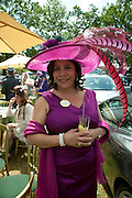 MRS. DEIDA ACARO, Lunch part hosted by Liz Brewer and Mrs. George Piskova in No; 1 car-park. . Royal Ascot. Tuesday. 14 June 2011. <br /> <br />  , -DO NOT ARCHIVE-© Copyright Photograph by Dafydd Jones. 248 Clapham Rd. London SW9 0PZ. Tel 0207 820 0771. www.dafjones.com.