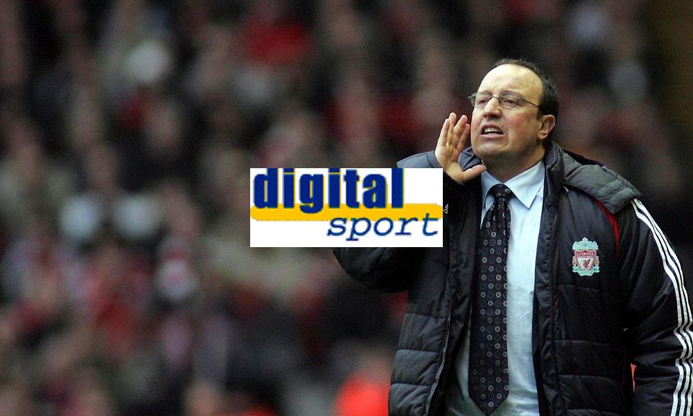 Photo: Paul Thomas.<br /> Liverpool v Sheffield United. The Barclays Premiership. 24/02/2007.<br /> <br /> Rafael Benitez, manager of Liverpool.