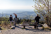 "Visitors are practising ""social distance"" at the Großer Feldberg (""Great Field Mountain"") which is at a height of 879.5 metres, the highest elevation of the Taunus mountains, and of the entire Rhenish Massif. It is situated in the Hochtaunuskreis district in Hessen, Germany."