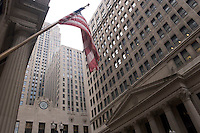 U.S. Flag and Chicago Board of Trade, Chicago, Illinois