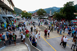 Fans before friendly match between National teams of Slovenia and Bosnia and Herzegovina for Eurobasket 2013 on August 16, 2013 in Podmezakla, Jesenice, Slovenia. (Photo by Urban Urbanc / Sportida.com)