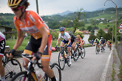 Megan Guarnier (USA) of Boels-Dolmans Cycling Team rides up on the day's main climb during the Giro Rosa 2016 - Stage 1. A 104 km road race from Gaiarine to San Fior, Italy on July 2nd 2016.