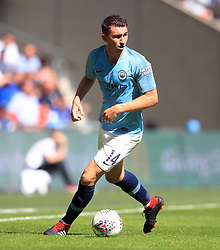 "Manchester City's Aymeric Laporte during the Community Shield match at Wembley Stadium, London. PRESS ASSOCIATION Photo. Picture date: Sunday August 5, 2018. See PA story SOCCER Community Shield. Photo credit should read: Adam Davy/PA Wire. RESTRICTIONS: EDITORIAL USE ONLY No use with unauthorised audio, video, data, fixture lists, club/league logos or ""live"" services. Online in-match use limited to 75 images, no video emulation. No use in betting, games or single club/league/player publications."