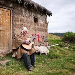 Fortunato Alarcon, 73, in Cebadacancha, Juscaymarca, Ayacucho.