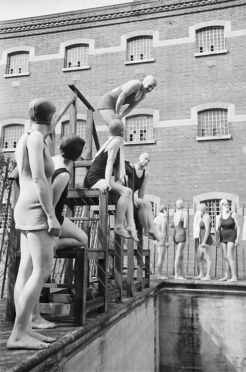 Girls at Swimming Pool, Borstal Institute, England, 1937