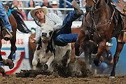 during the Reno Rodeo on Sunday June 20, 2010 in Reno, Nev.<br /> (AP Photo/Nevada Appeal, Kevin Clifford).