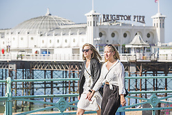 May 6, 2018 - Brighton, East Sussex, United Kingdom - Brighton, UK. Members of the public enjoy the early morning sunshine on the promenade in Brighton and Hove as warm weather continues the seaside resort. (Credit Image: © Hugo Michiels/London News Pictures via ZUMA Wire)