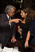 SIR DAVID TANG; TIBBS JENKINS, Dinner in aid of the China Tiger Revival hosted by Sir David Tang and Stephen Fry  at China Tang, Park Lane, London. 1 October 2013. ,