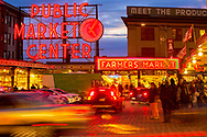 dusk at Pike Place Market