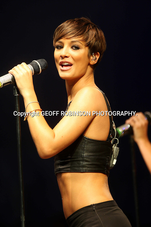 PIC BY GEOFF ROBINSON PHOTOGRAPHY 07976 880732... PIC SHOWS   Frankie Sandford OF THE SATURDAYS AT  THE V FESTIVAL IN CHELMSFORD,ESSEX,ON SUNDAY AFTERNOON  21 AUGUST... Over 100,000 music fans   headed to Chelmsford this weekend for the 16th V Festival at Hylands Park...The two-day music festival featured performances by Arctic Monkeys, Dizzee Rascal, Eminem and Pendulum...