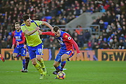 Crystal Palace Midfielder James McArthur in action against Everton Midfielder Gareth Barry during the Premier League match between Crystal Palace and Everton at Selhurst Park, London, England on 21 January 2017. Photo by Jon Bromley.