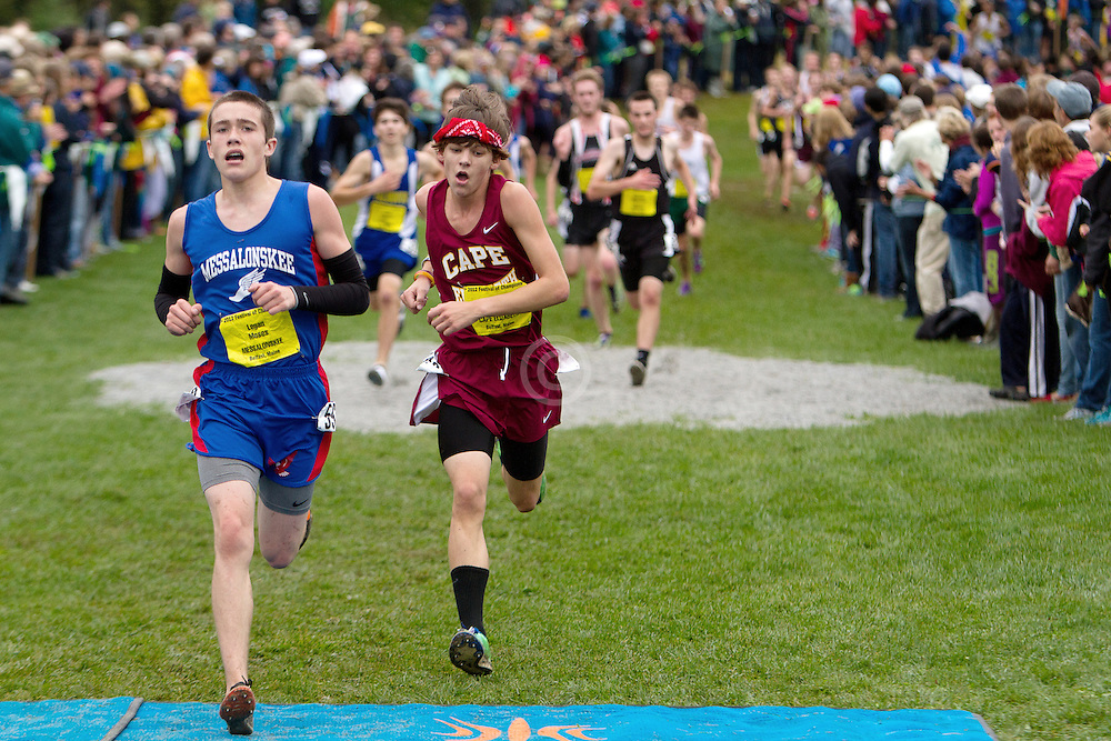Festival of Champions High School Cross Country meet, Logan Moses, Messalonskee, Kyle Kennedy, Cape Elizabeth