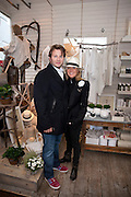 GEORGE BAMFORD; ALICE BAMFORD, IN THE DAYLESFORD SHOP.  The Pimlico Road Summer party. London SW1. 9 June 2009