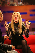 COURTNEY LOVE LOUIE WALSH AND KATIE MELIA ON THE GRAHAM NORTON SHOW WHICH GOES OUT ON BBC1 11.11.07.PIX STEVE BUTLER