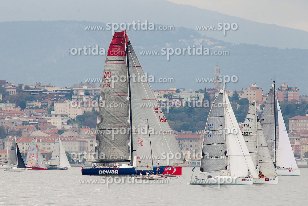 Sailboat E1 of Pengg Aegyd during the North Adriatic regatta Barcolana 2014, on October 12, 2014 in Gulf of Trieste, Italy. Photo by Vid Ponikvar / Sportida.com