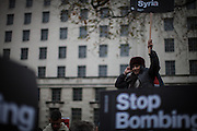 March against UK government decision to bomb Syria, London