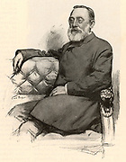 Rudolph Virchow (1821-1902) German pathologist and founder of cell pathology. In later life he turned to anthropology and archaeology and collaborated with Schliemann on the excavations at Troy. Engraving from 'Harper's New Monthly Magazine' (New York, June 1899).