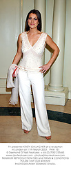 TV presenter KIRSTY GALLACHER at a reception in London on 11th March 2003.			PHW 151