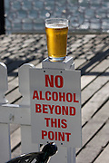 Brighton Pier. Alcohol restrictions.