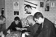 Symond, Lee, Neville and Gavin Playing Dungeons and Dragons, Hawthorne Road, High Wycombe, UK. 1980s.
