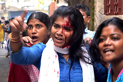 October 9, 2018 - Kolkata, West Bengal, India - Women guardian injured during the agitation to immediate action against the school teacher who had allegedly molested a minor girl student. Guardians and local people agitate in a school after a minor girl student allegedly molested by a school teacher. (Credit Image: © Saikat Paul/Pacific Press via ZUMA Wire)