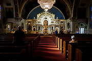 St John The Divine Orthodox Church in Monessen, Pa.  The congregation of the church has been in freefall since the decline of the steel industry in the Monongahelia Valley. More than 20,000 people lived in Monessen in 1930. <br />