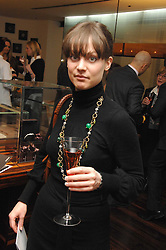 SANDRINE JANET at a Valentine's Party in aid of Chickenshed held at De Beers, 50 Old Bond Street, London W1 on 6th Fbruary 2008.<br />