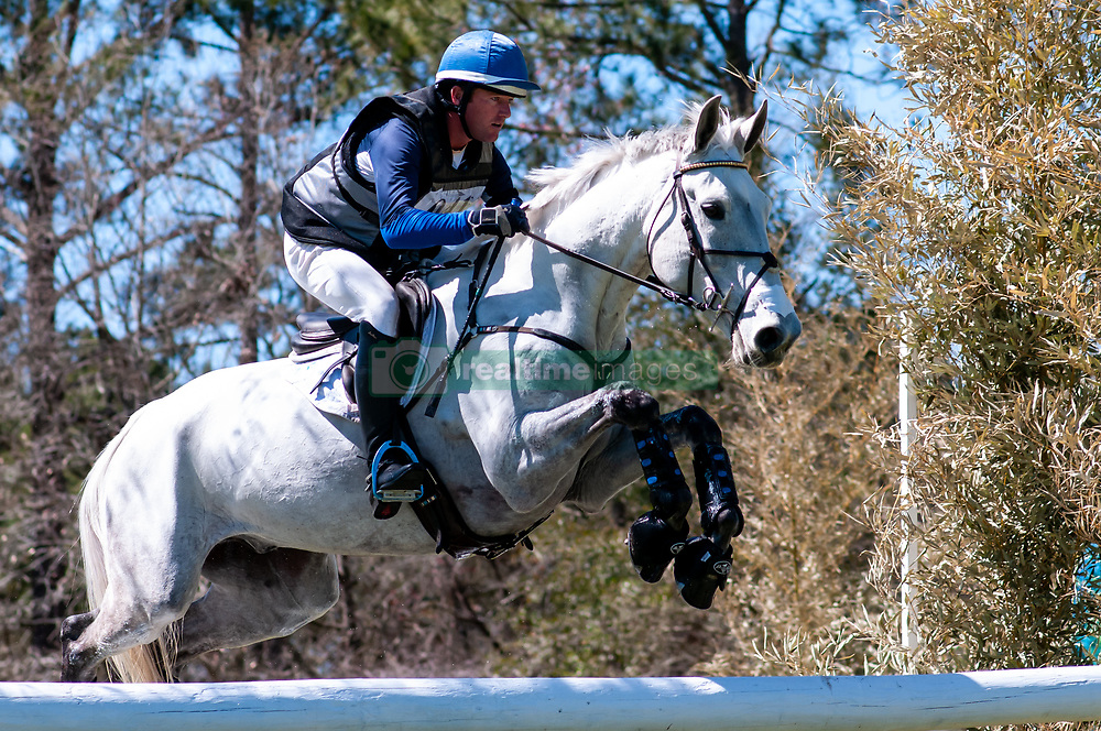 March 22, 2019 - Raeford, North Carolina, US - March 23, 2019 - Raeford, N.C., USA - WILL FAUDREE of the United States riding PFUN competes in the cross country CCI-4S division at the sixth annual Cloud 11-Gavilan North LLC Carolina International CCI and Horse Trial, at Carolina Horse Park. The Carolina International CCI and Horse Trial is one of North AmericaÃ•s premier eventing competitions for national and international eventing combinations, hosting International competition at the CCI2*-S through CCI4*-S levels and National levels of Training through Advanced. (Credit Image: © Timothy L. Hale/ZUMA Wire)