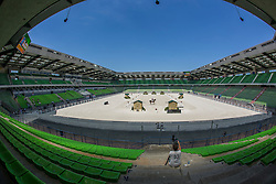Oerview dressage arena<br /> WEG Test event dressage - Caen 2014<br /> © Hippo Foto - Dirk Caremans