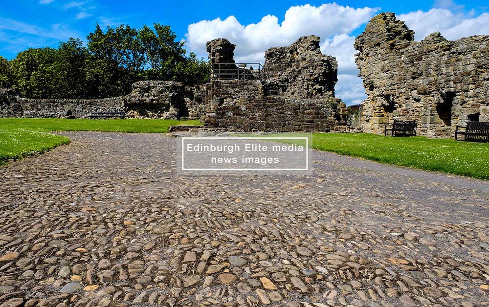 A cobbled roadway inside St Andrews Castle, St Andrews, Fife, Scotland<br /> <br /> (c) Andrew Wilson | Edinburgh Elite media