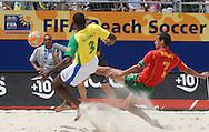 Football-FIFA Beach Soccer World Cup 2006 - Semi-final -BRA_POR -Madjer-POR- strke save - Rio de Janeiro - Brazil 11/11/2006d by Bueno-BRA-<br />Mandatory credit: FIFA/ Marco Antonio Rezende.