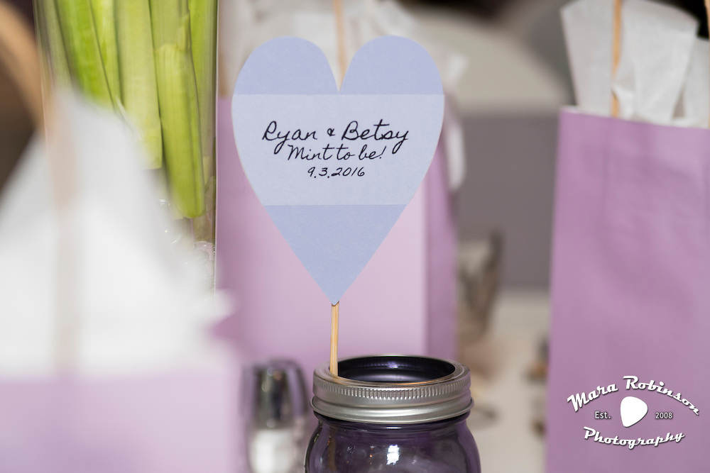 wedding favors by Tallmadge wedding photographer, Akron wedding photographer Mara Robinson Photography