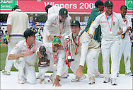 South Africa and Graeme Smith celebrate their series victory over England after the fourth Test at the Oval on the 11th of August 2008..England v South Africa.Photo by Philip Brown.www.philipbrownphotos.com