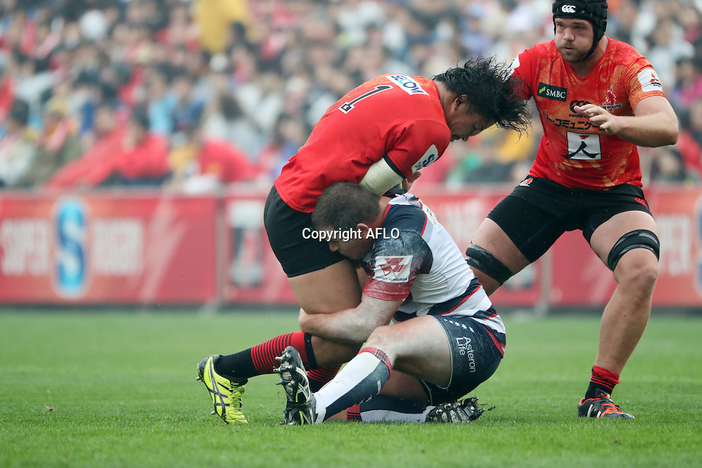 Keita Inagaki (Sunwolves),<br /> MARCH 19, 2016 - Rugby : Super Rugby match between Sunwolves 9-35 Melbourne Rebels at Prince Chichibu Memorial Stadium in Tokyo, Japan. (Photo by AFLO)