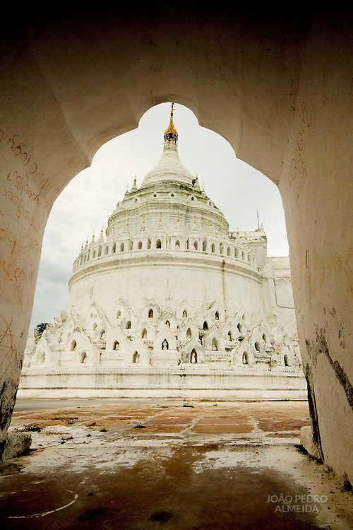 View of White pagoda of Mingon, Mandalay