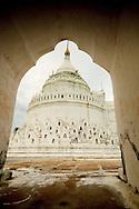 View of White pagoda of Mingon, Mandalay