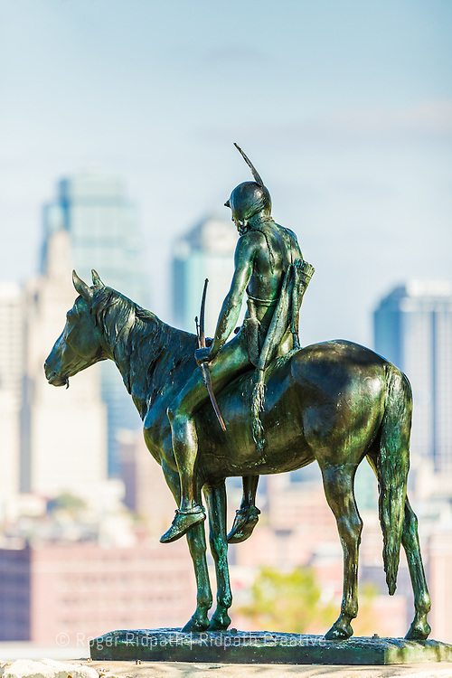 KC Scout in Kansas City Missouri skyline