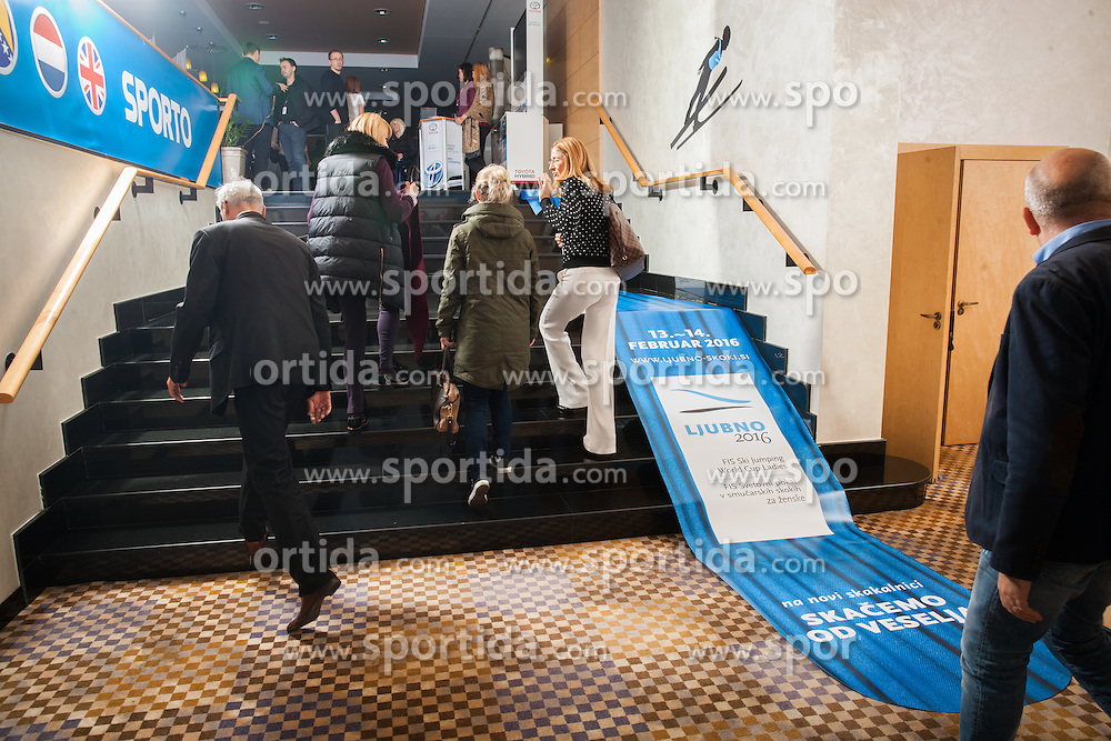 Place with printed Ljubno ski jump hill during Sports marketing and sponsorship conference Sporto 2015, on November 19, 2015 in Hotel Slovenija, Congress centre, Portoroz / Portorose, Slovenia. Photo by Vid Ponikvar / Sportida