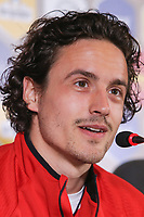 CLUJ-NAPOCA, ROMANIA, MARCH 26: Denmark's national soccer player Thomas Delaney pictured at the press conference before the 2018 FIFA World Cup qualifier soccer game between Romania and Denmark, on March 25, at Cluj Arena Stadium, in Cluj-Napoca, Romania. (Photo by Mircea Rosca/Getty Images)