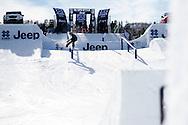 Sven Thorgren during Snowboard Slopestyle Practice at the 2016 X Games Aspen in Aspen, CO. ©Brett Wilhelm/ESPN