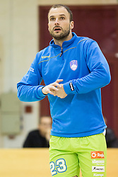 Uros Zorman of Slovenia during friendly handball match between National Teams of Slovenia and F.Y.R. of Macedonia before EHF EURO 2016 in Poland on January 4, 2015 in Sports hall Krsko, Krsko, Slovenia. Photo by Urban Urbanc / Sportida