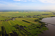 Nederland, Zuid-Holland, Gemeente Bodegraven, 23-05-2011; riviertje en dorp De Meije. Groene Hart met opvallende witte watertoren aan het Meijepad. Small river Meije in the Geen Zone of the Netherlands, landscape with ditches, white water tower as landmark..luchtfoto (toeslag), aerial photo (additional fee required).copyright foto/photo Siebe Swart