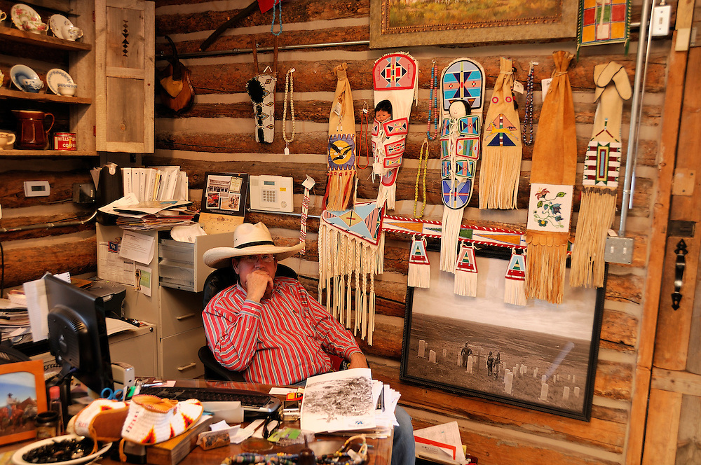 Pudd Thompson, Custer Battlefield Trading Post, Crow Agency, Crow Indian Reservation,  Montana, USA